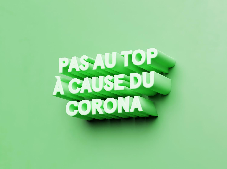 — Feeling down because of corona